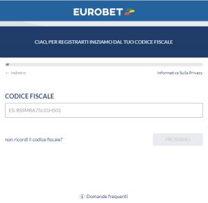 eurobet registrazione