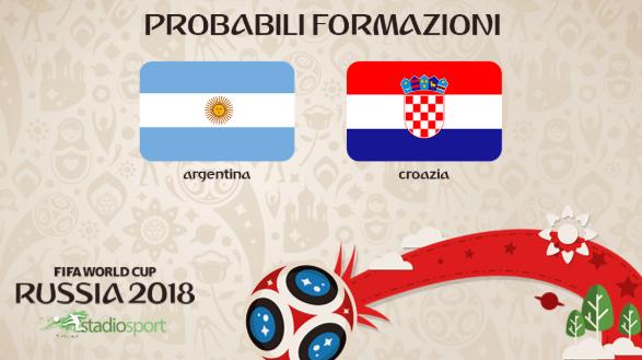 argentina croazia probabili formazioni