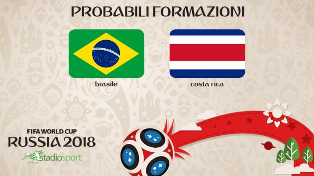 Probabili Formazioni e Statistiche 22 Giugno: Brasile vs. Costa Rica – Nigeria vs. Islanda – Serbia – Svizzera