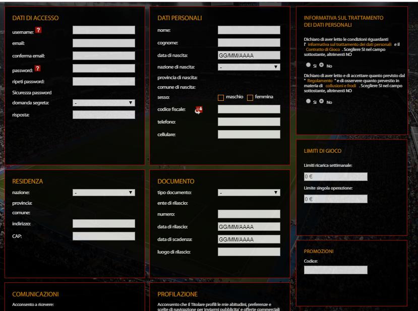 goalwin registrazione