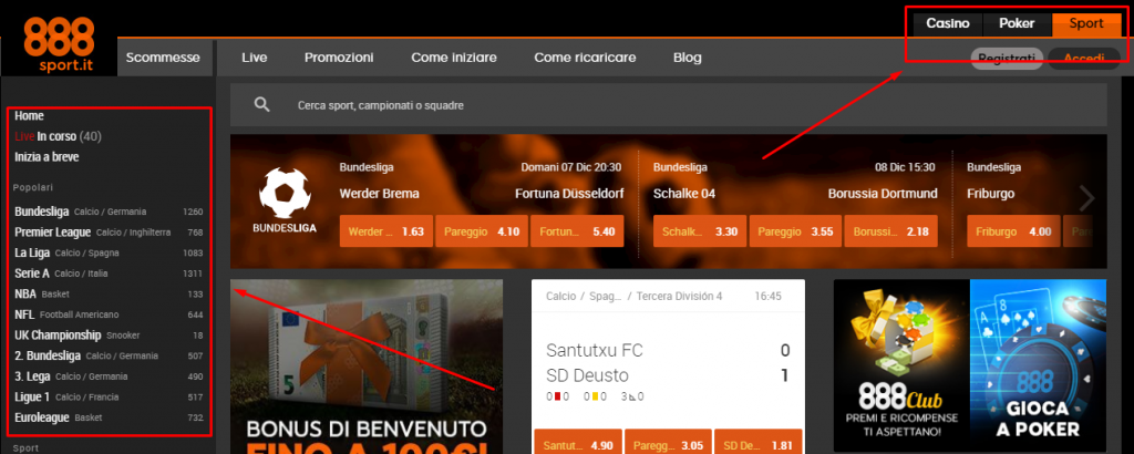 888sport.it versione web